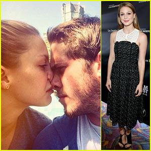 Melissa Benoist & Fiance Blake Jenner Enjoy a Nose Smoosh!