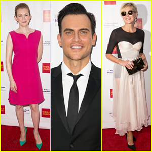 Mireille Enos, Cheyenne Jackson & Sharon Stone Put On Their Best for Tony Awards Viewing Party 2015!