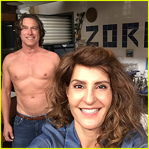 Nia Vardalos & Shirtless John Corbett Start Work on 'My Big Fat Greek Wedding 2'!