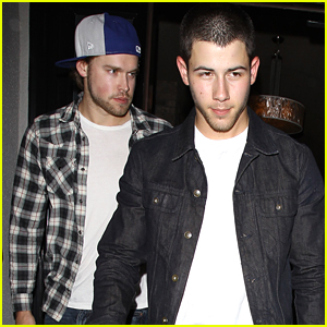 Nick Jonas & Chord Overstreet Check Out Ed Sheeran's Concert in Hollywood