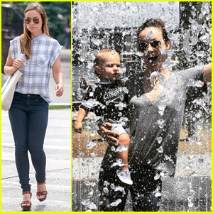 Olivia Wilde Hits Up a Brooklyn Park With Her Adorable Son Otis