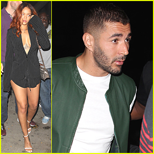 Rihanna & Karim Benzema Hit Same Nightclub As Her Ex Chris Brown