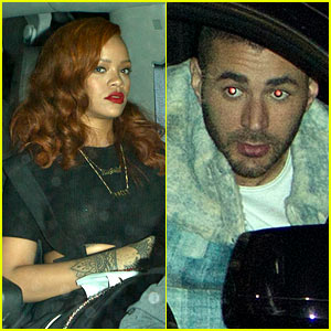 Rihanna & Karim Benzema Leave Separately After Dinner Together