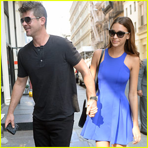 Robin Thicke's Dad Has Met His Girlfriend April Love Geary