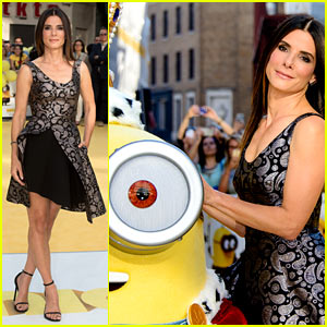 Sandra Bullock Meets the 'Minions' at London Premiere!