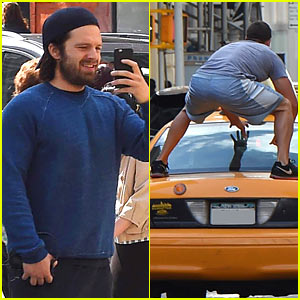 Sebastian Stan Films His Trainer Doing Crazy Taxi Stunts