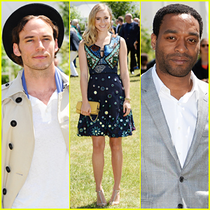 Suki Waterhouse Joins Chiwetel Ejiofor & Sam Claflin at Burberry Menswear Fashion Show!