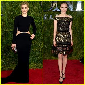 Taylor Schilling & Amanda Seyfried Hit the Tony Awards Carpet!