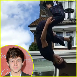 Young Actor Tom Holland Shows Off His Spider-Man Skills in New Stunt Videos - Watch Now!