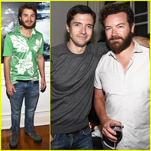 Topher Grace & Danny Masterson Have a Mini 'That 70s Show' Reunion!