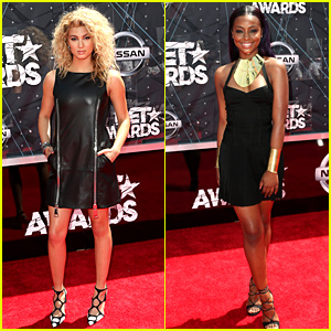 Tori Kelly & Justine Skye Kick Off the BET Awards Red Carpet!