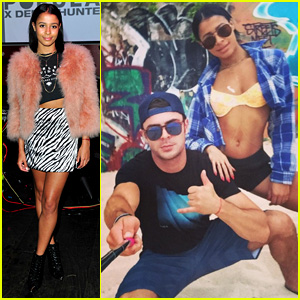 Zac Efron Hits the Beach With Sami Miro & a Selfie Stick!