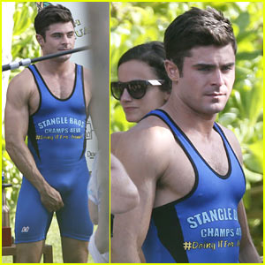 Zac Efron Leaves Little to the Imagination in Skintight Onesie!