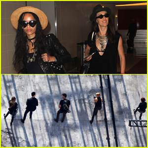Zoe Kravitz & Maggie Q Get Ready to Film More 'Allegiant'