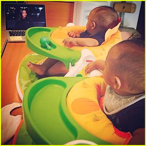 Zoe Saldana's Twin Boys Are Beyond Adorable Watching Her!