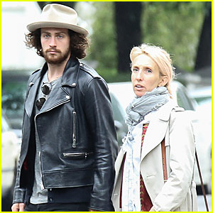 Aaron Taylor-Johnson & His Wife Sam Go House Hunting in London