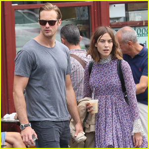 Alexander Skarsgard & Alexa Chung Couple Up for Coffee