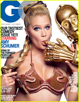 Amy Schumer Poses for Seductive & Hilarious 'Star Wars' Themed 'GQ' Shoot