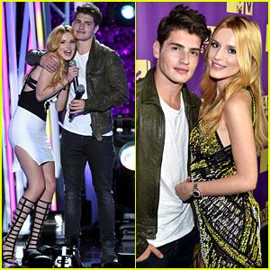 Bella Thorne Brings Boyfriend Gregg Sulkin On Stage at MTV Fandom Awards!