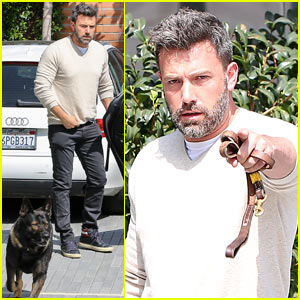 Ben Affleck Jokingly Sics His Dog on the Paparazzi