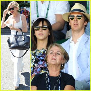Benedict Cumberbatch & Sienna Miller Check Out Wimbledon Semi-Finals!