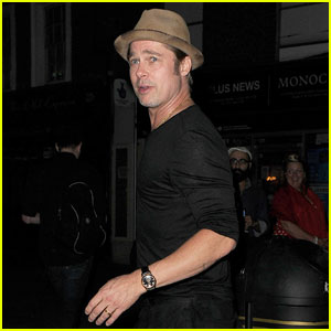 Brad Pitt Checks Out Bradley Cooper in 'The Elephant Man'