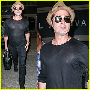 Brad Pitt Heads to LA While Angelina Jolie Continues Humanitarian Tour of Southeast Asia