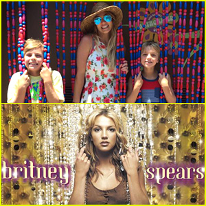 Britney Spears & Her Two Sons Recreate Her 'Oops!...I Did It Again' Album Cover!