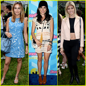 Camilla Belle & Karla Souza Are Summer Chic at Just Jared's Summer Bash Presented by SweeTARTS Chewy Sours