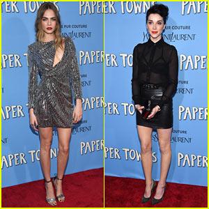 Cara Delevingne Gets St. Vincent's Support at 'Paper Towns' Premiere After Split Rumors