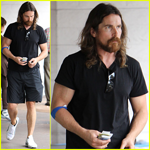 Christian Bale Sports Very Scruffy Beard in Brentwood