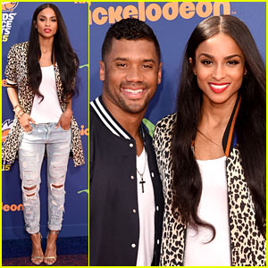 Ciara Supports Boyfriend Russell Wilson at Kids' Choice Sports Awards 2015