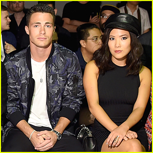 Colton Haynes & Ally Maki Hit New York Men's Fashion Week Together