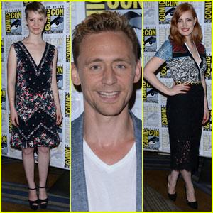 Jessica Chastain & Tom Hiddleston Take 'Crimson Peak' to Comic-Con!