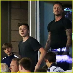 David Beckham Brings His Sons to LA Galaxy Game!