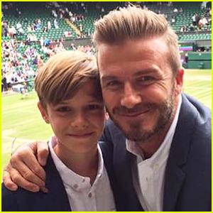 David Beckham Brings His Son Romeo to Wimbledon!
