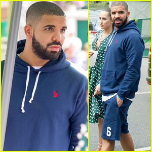 Drake Heads to Wimbledon to Watch Pal Serena Williams