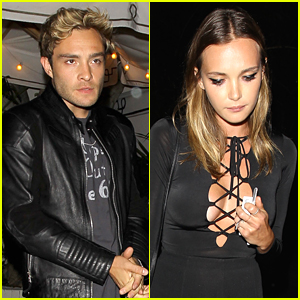 Ed Westwick & Model Julia Gall Dine Out At Chateau Marmont
