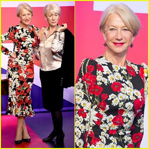 Helen Mirren Meets Herself Three Times at Madame Tussauds!
