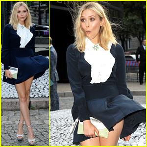 Elizabeth Olsen Has a Marilyn Monroe Moment in Paris
