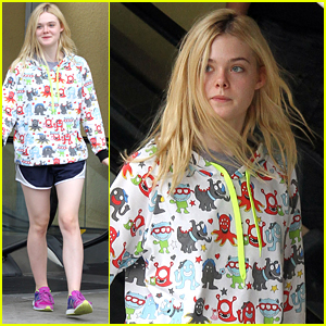 Elle Fanning Gets Crafty With Mom Joy In Los Angeles
