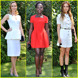 Emily Blunt & Lupita Nyong'o Doll Up for Dior's Paris Show!