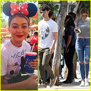 Gigi Hadid & Joe Jonas Spend an Adorable Day at Disney Together