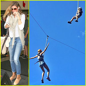 Gisele Bundchen Goes Zip-lining With Son Benjamin!