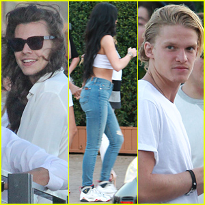 Harry Styles & Kylie Jenner Party Tog