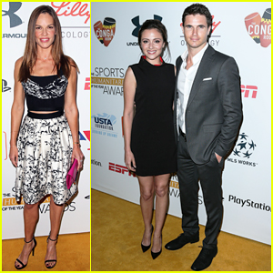Hilary Swank & Robbie Amell Honor Change Makers at Sports Humanitarian of the Year Awards!