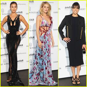 Irina Shayk & Rosie Huntington-Whiteley Serve Glam for amfAR!