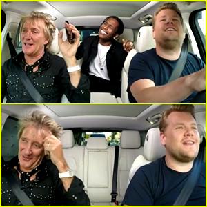 Rod Stewart & A$AP Rocky Join James Corden for 'Carpool Karaoke' - Watch Now!
