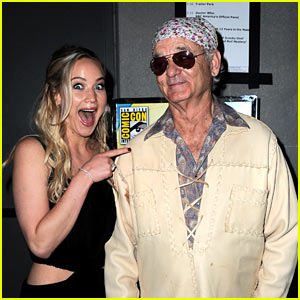 Jennifer Lawrence Geeks Out Over Bill Murray at Comic-Con!