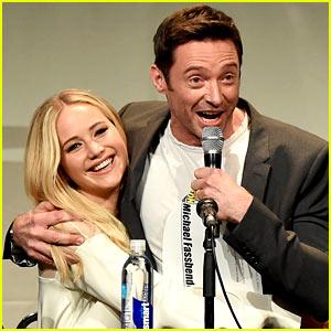 Jennifer Lawrence & Hugh Jackman Embrace at 'X-Men' Comic-Con Panel!